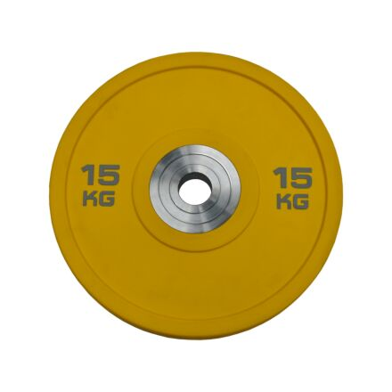 Premium Solid Rubber Plate - 15kg - Yellow